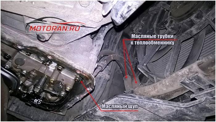 шланг от радиатора, который ведет к теплообменнику