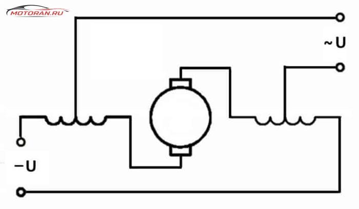 Схема универсального коллекторного