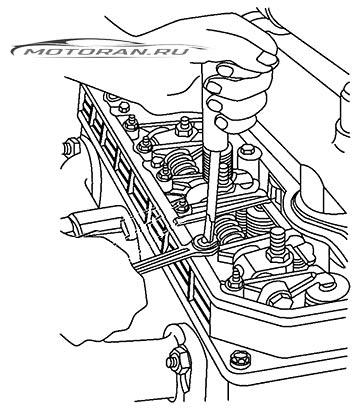 Регулировка клапанов Д240