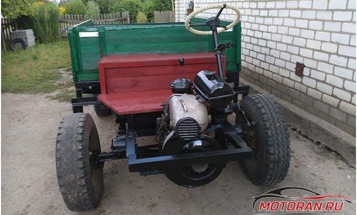 ЗИД на тракторе с кузовом
